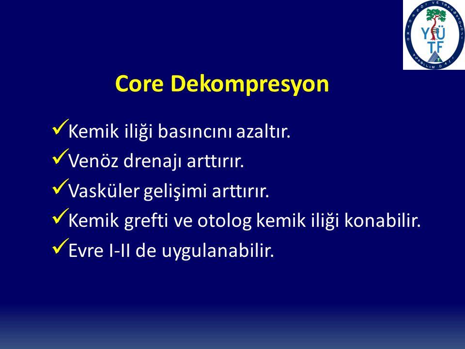 Core Dekompresyon Kemik iliği basıncını azaltır.Venöz drenajı arttırır.