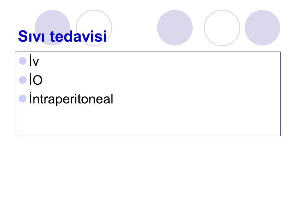 Sıvı tedavisi İv İO İntraperitoneal