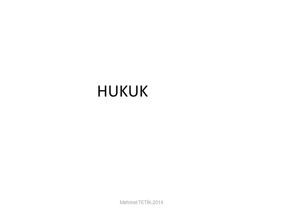 HUKUK Mehmet TETİK-2014