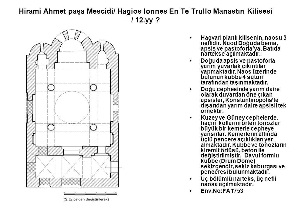Haçvari planlı kilisenin, naosu 3 neflidir. Naod Doğuda bema, apsis ve pastoforia'ya, Batıda nartekse açılmaktadır. Doğuda apsis ve pastoforia yarım y