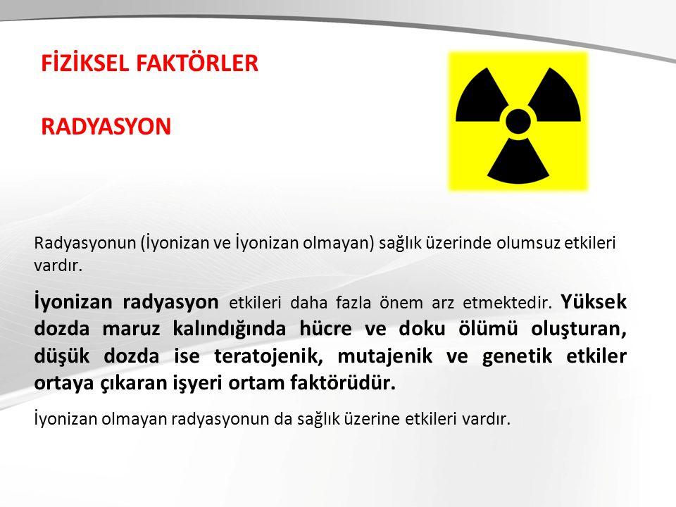 Radyasyonun (İyonizan ve İyonizan olmayan) sağlık üzerinde olumsuz etkileri vardır.