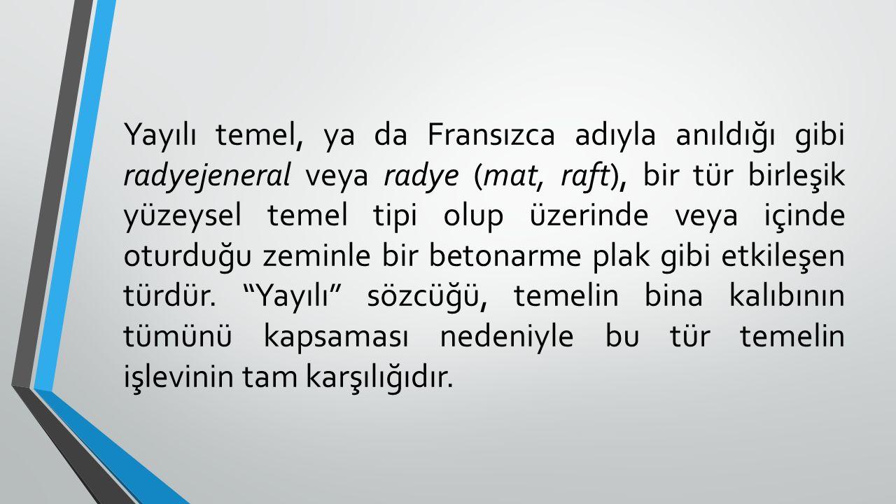 NİÇİN YAYILI TEMEL.