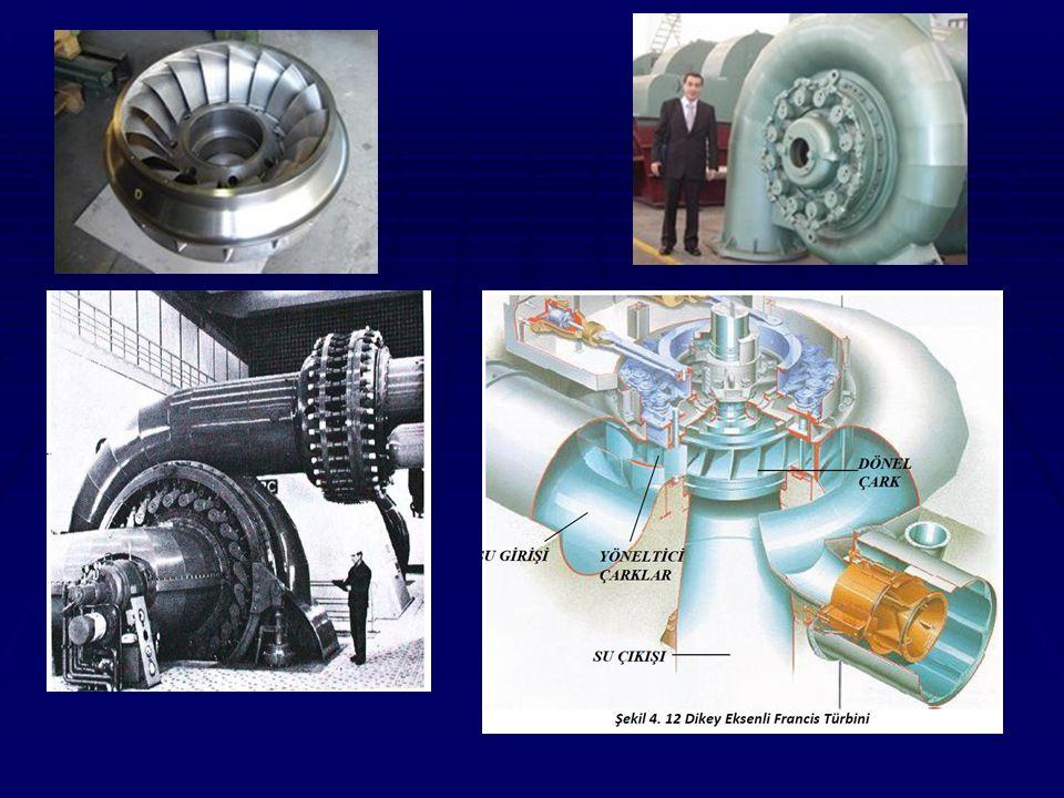 B- Aksiyon türbinleri: Bu tip türbinler esas olarak suyun kinetik enerjisinden yararlanmaktadır.