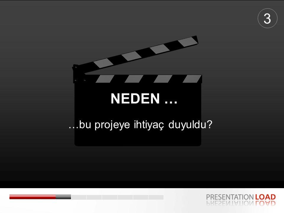 …bu projeye ihtiyaç duyuldu? 3 NEDEN …