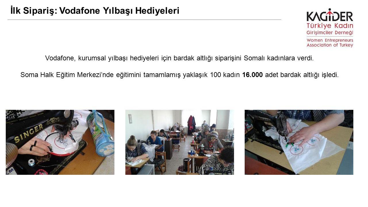 İlk Sipariş: Vodafone Yılbaşı Hediyeleri Vodafone, kurumsal yılbaşı hediyeleri için bardak altlığı siparişini Somalı kadınlara verdi.