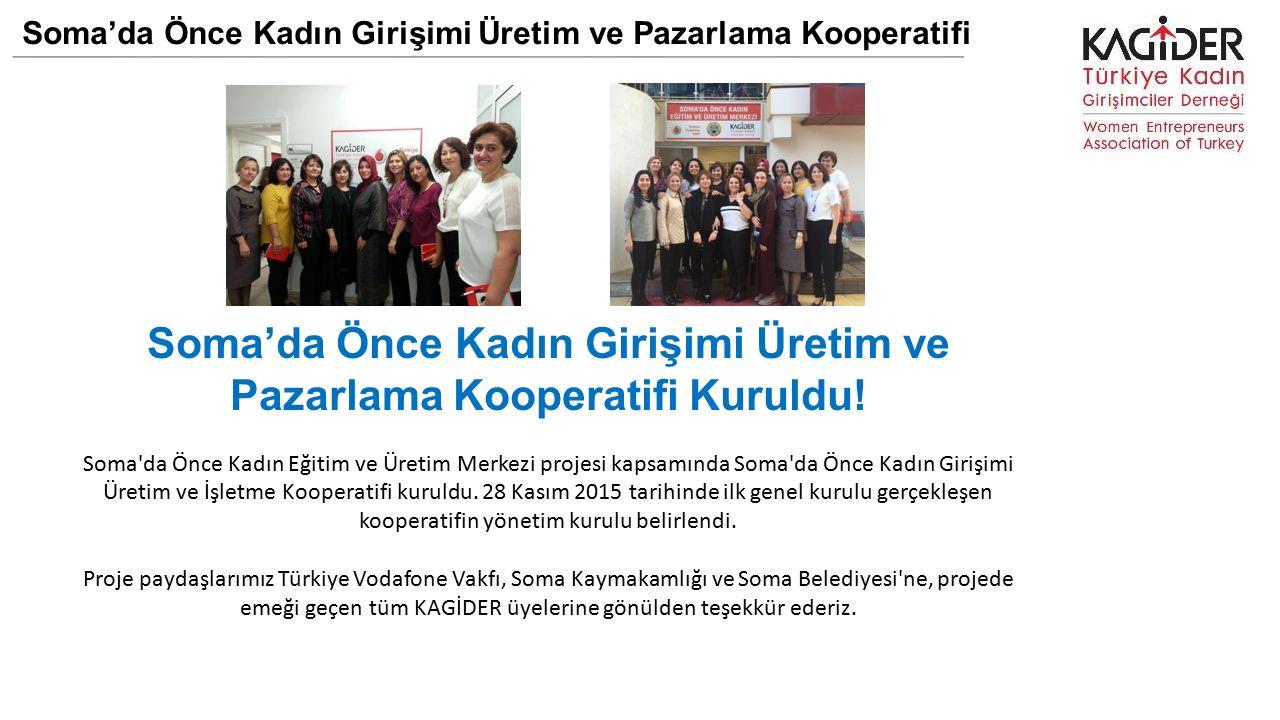 Soma'da Önce Kadın Girişimi Üretim ve Pazarlama Kooperatifi Soma'da Önce Kadın Girişimi Üretim ve Pazarlama Kooperatifi Kuruldu.