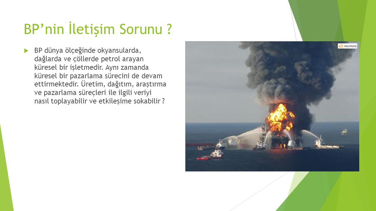 BP'nin İletişim Sorunu .