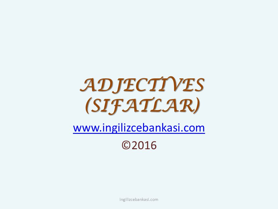 Sequence of fact adjectives before nouns SizeShapeAgeColourOriginMaterialPurposeNoun tiny small big round square curly young old ancient red grey blue Chinese Turkish plastic wooden gold copper silk walking football shoes watch ingilizcebankasi.com