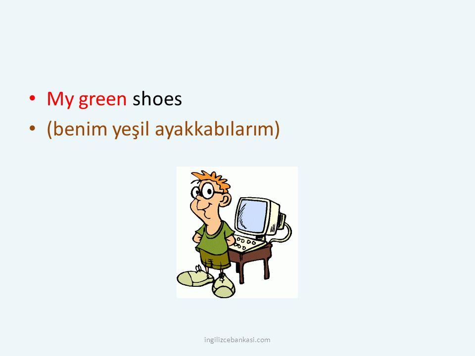 My green shoes (benim yeşil ayakkabılarım) ingilizcebankasi.com