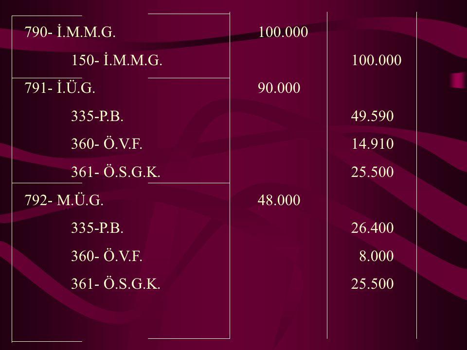 790- İ.M.M.G.100.000 150- İ.M.M.G.100.000 791- İ.Ü.G.90.000 335-P.B.49.590 360- Ö.V.F.14.910 361- Ö.S.G.K.25.500 792- M.Ü.G.48.000 335-P.B.26.400 360- Ö.V.F.