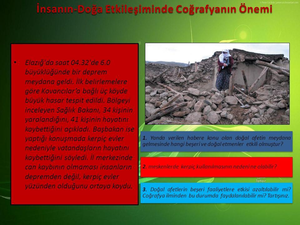 Elazığ'da saat 04.32'de 6.0 büyüklüğünde bir deprem meydana geldi. İlk belirlemelere göre Kovancılar'a bağlı üç köyde büyük hasar tespit edildi. Bölge