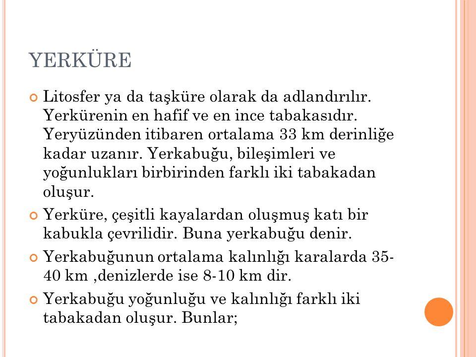 a)Sial (Granitik Kabuk): Üzerinde yaşadığımız katmandır.