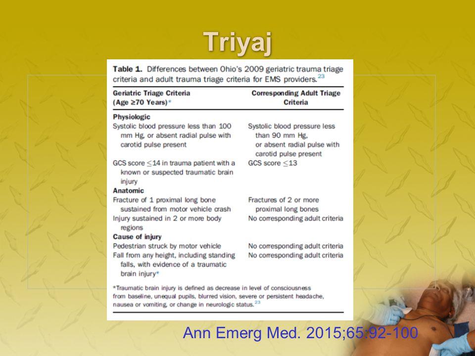 Triyaj Ann Emerg Med. 2015;65:92-100