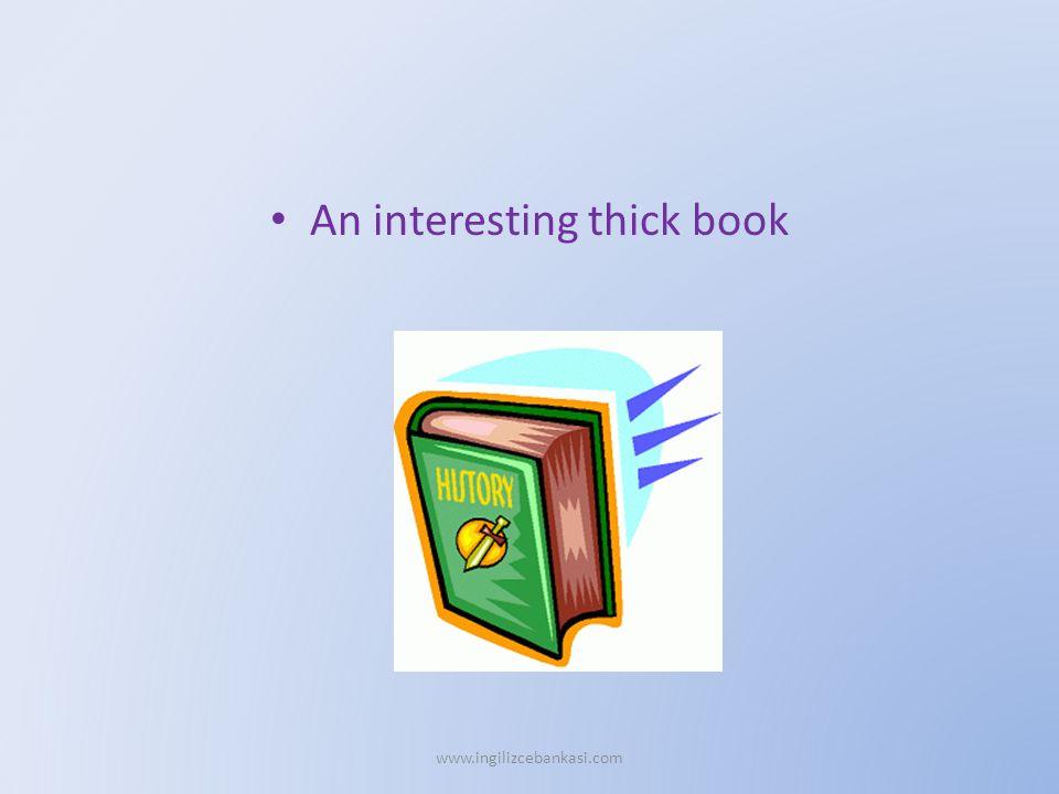 An interesting thick book www.ingilizcebankasi.com