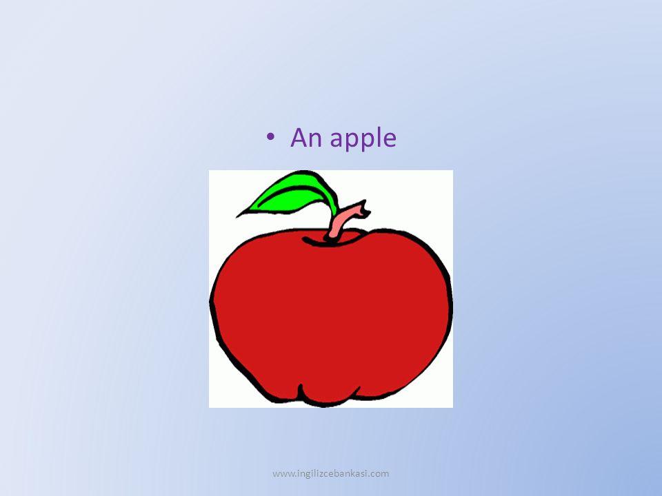 An apple www.ingilizcebankasi.com