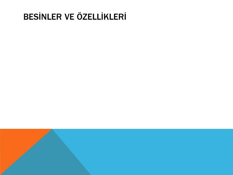 BESİNLER VE ÖZELLİKLERİ