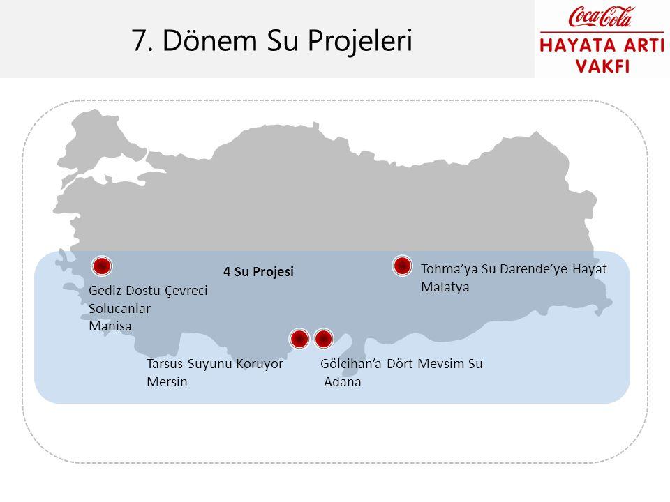 7. Dönem Su Projeleri 4 Su Projesi Gediz Dostu Çevreci Solucanlar Manisa Tarsus Suyunu Koruyor Mersin Gölcihan'a Dört Mevsim Su Adana Tohma'ya Su Dare