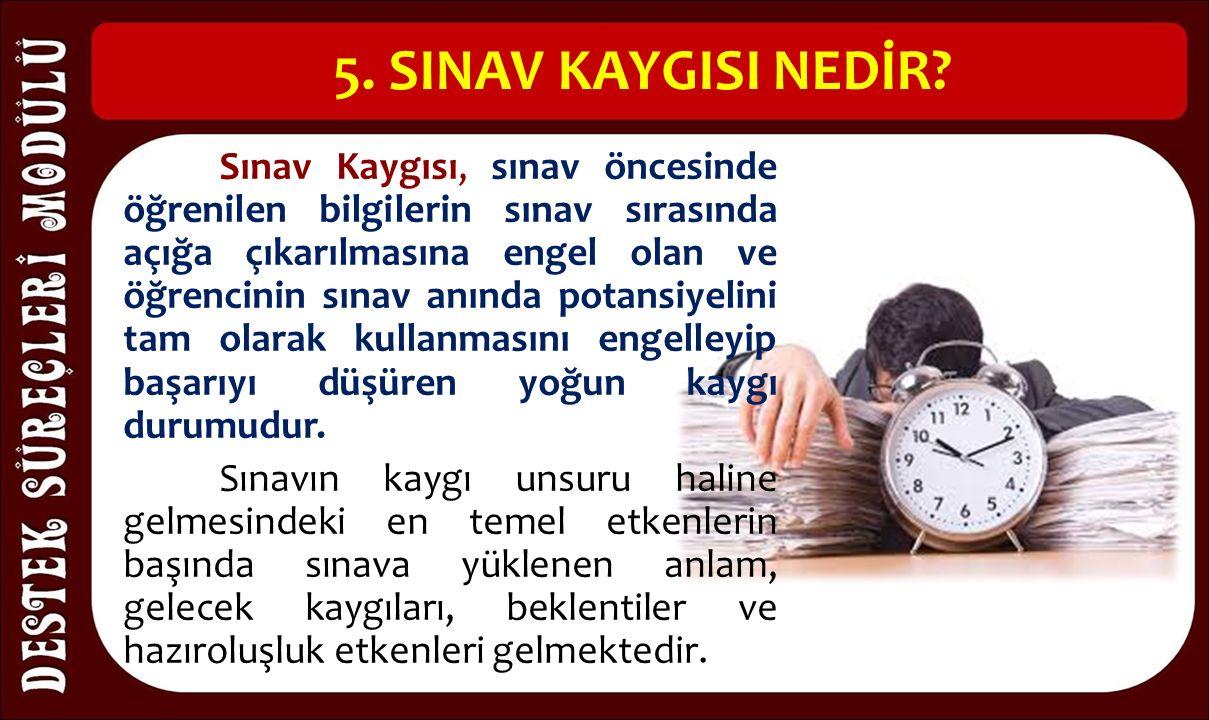 5. SINAV KAYGISI NEDİR.