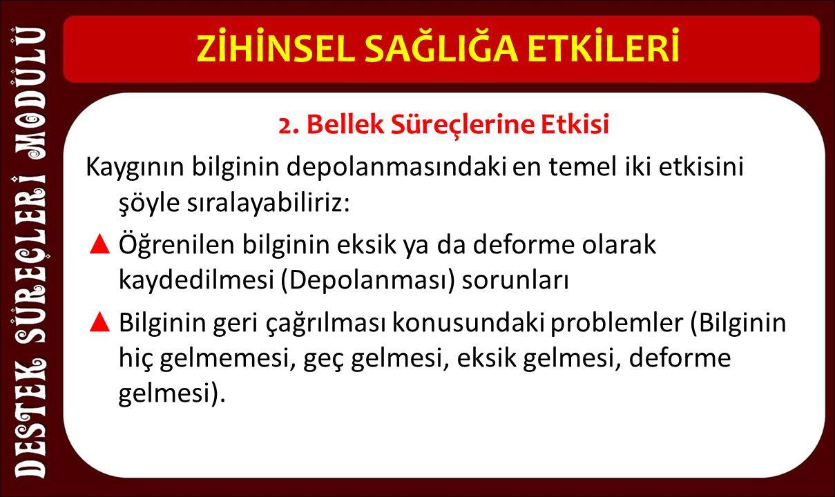 ZİHİNSEL SAĞLIĞA ETKİLERİ 2.