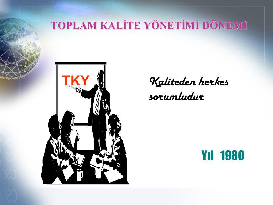 TOPLAM KALİTE YÖNETİMİ DÖNEMİ TKY Kaliteden herkes sorumludur Yıl 1980