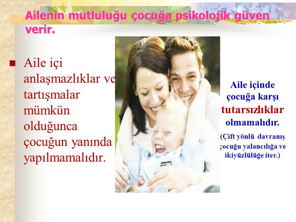 Destekleyici tutumdaki aile çocuğuna sevgisini gösteren ailedir..