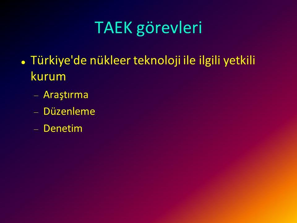 Türkiye Atom Enerjisi Kurumu Atom Enerjisi Komisyonu Genel Sekreterliği 1956 yılında 6821 sayılı Yasa ile Başbakanlık'a bağlı olarak Ankara'da kurulmu