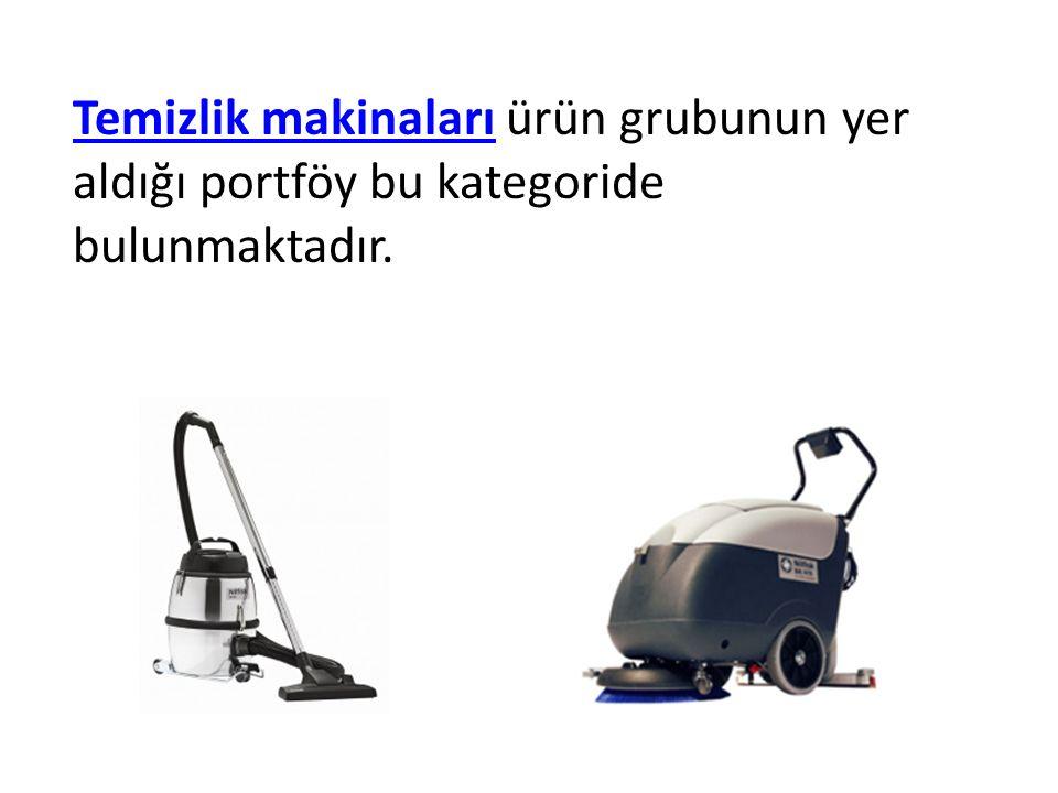 Temizlik makinaları ürün grubunun yer aldığı portföy bu kategoride bulunmaktadır.