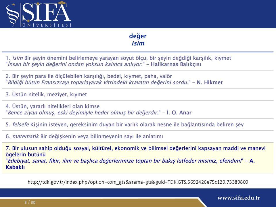 / 3014 Atatürk Üniversitesi İnsani Değerler Eğitimi Uygulama ve Araştırma Merkezi.