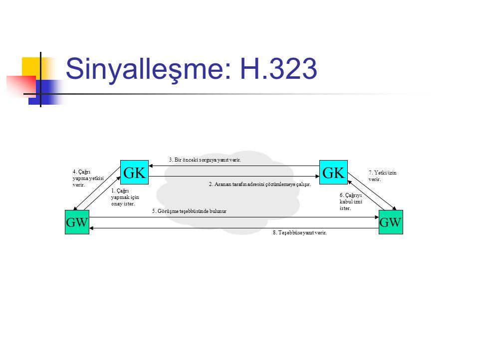 H.323: ASN.1 Abstract Syntax Notation 1 ITU-T X.680 – X.683 belgelerinde tanımlanmıştır.