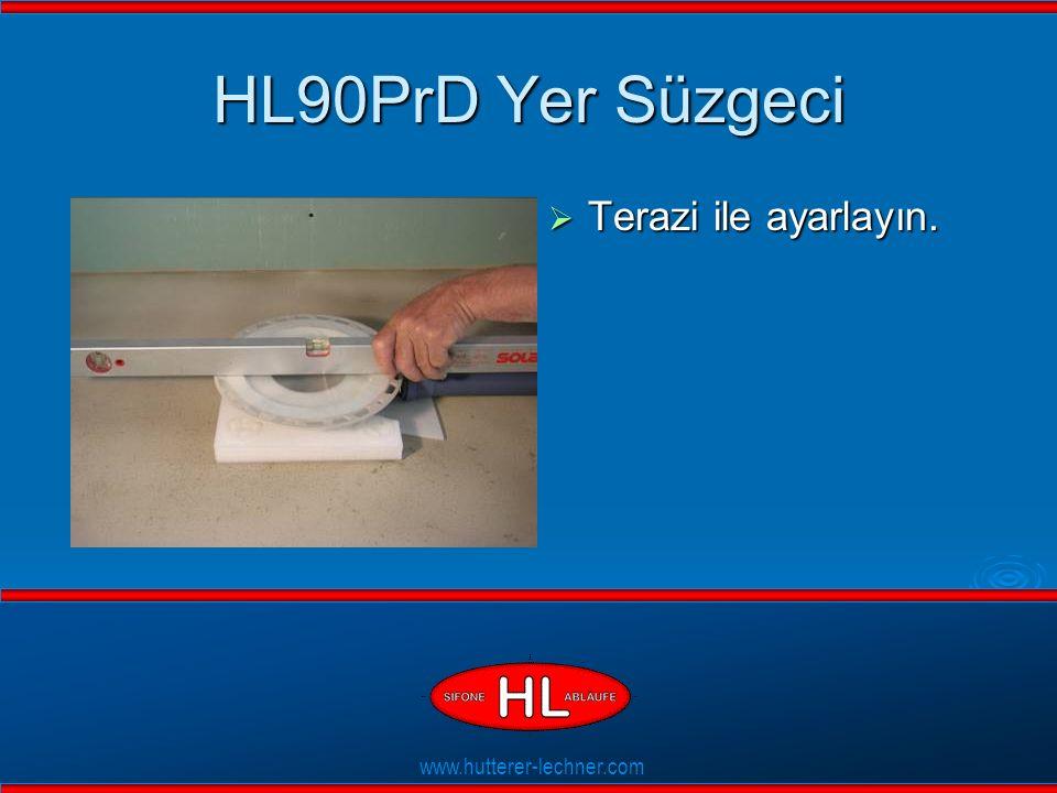 www.hutterer-lechner.com Flexible Dichtlippen HL90PrD Yer Süzgeci  Terazi ile ayarlayın.