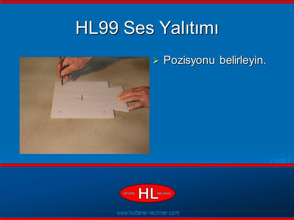 www.hutterer-lechner.com Flexible Dichtlippen HL99 Ses Yalıtımı  Pozisyonu belirleyin.