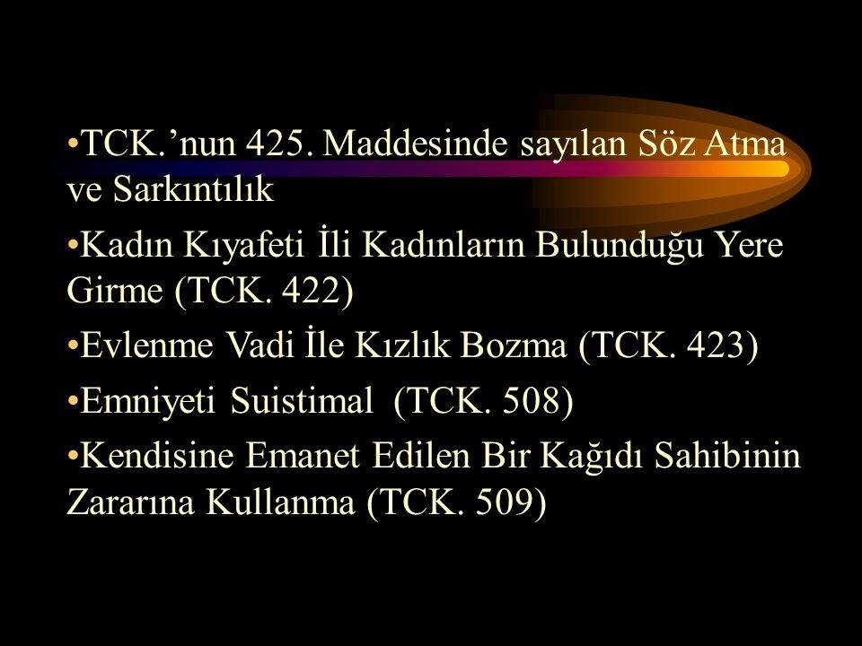 TCK.'nun 425.
