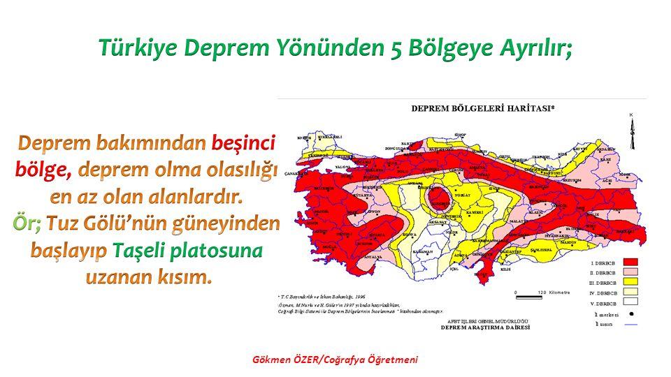 Türkiye'de yer kaymaları en fazla İlkbaharda meydana gelir.