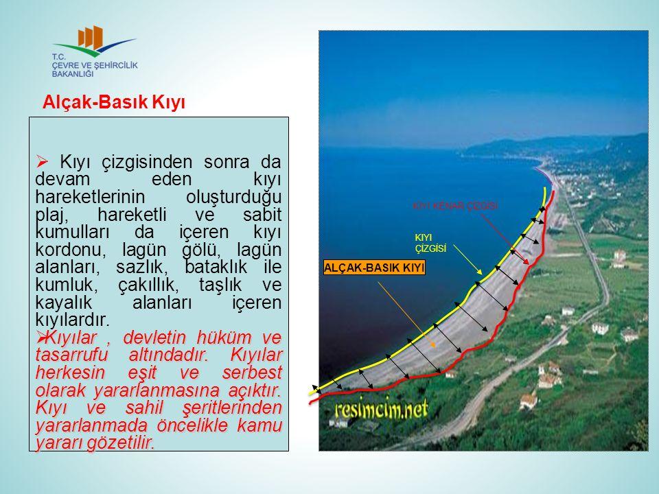 Kıyı çizgisinden sonra da devam eden kıyı hareketlerinin oluşturduğu plaj, hareketli ve sabit kumulları da içeren kıyı kordonu, lagün gölü, lagün al
