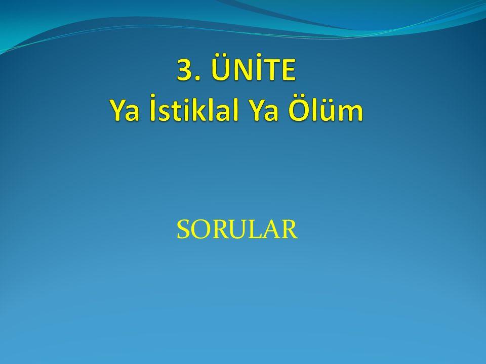 10. Soru Osmanlı Devleti I. Dünya Savaşı'na girerken, Almanya'nın gücünden yararlanmak istemiştir.