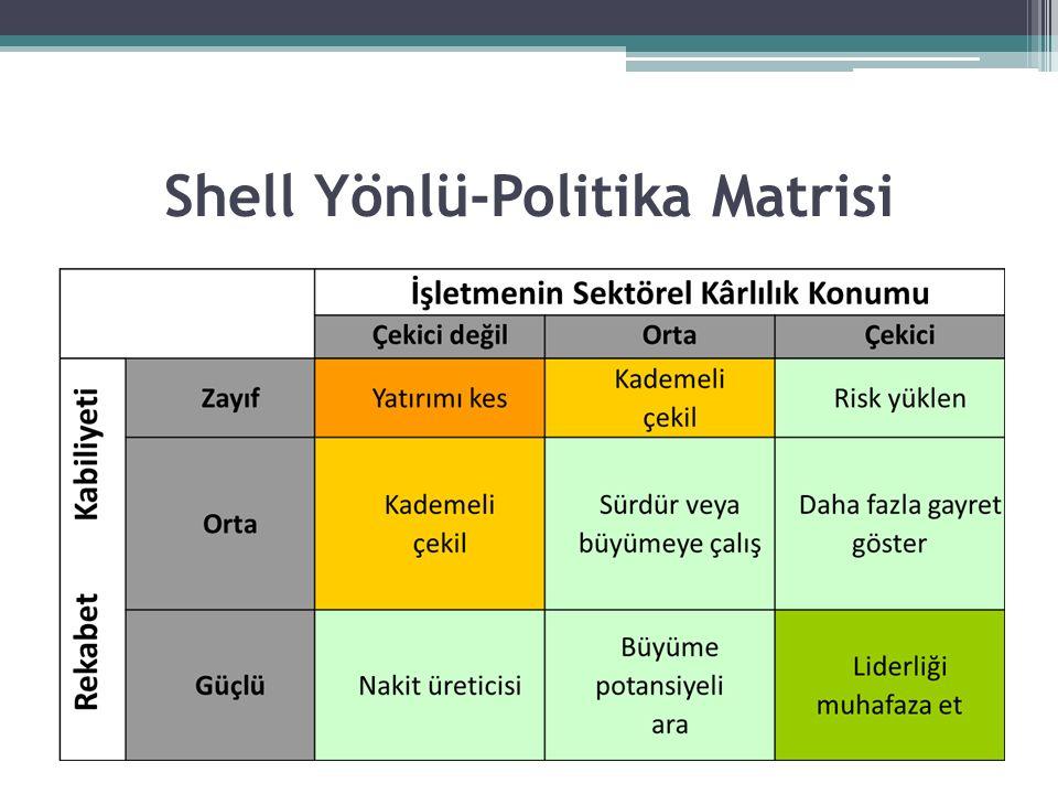 Shell Yönlü-Politika Matrisi