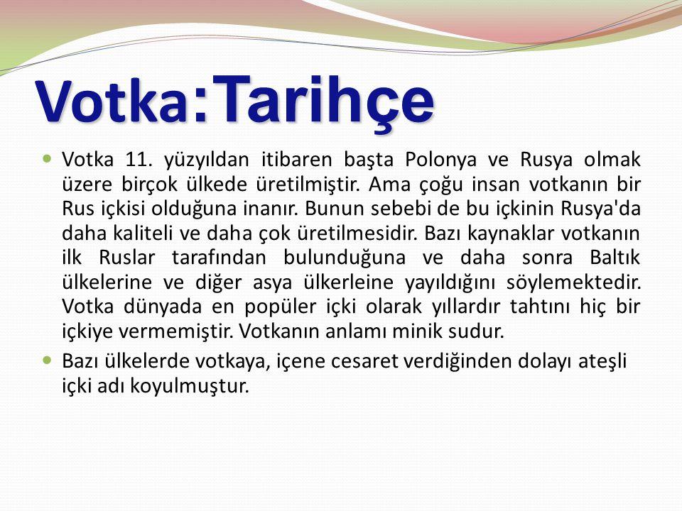 Votka :Tarihçe Votka 11.