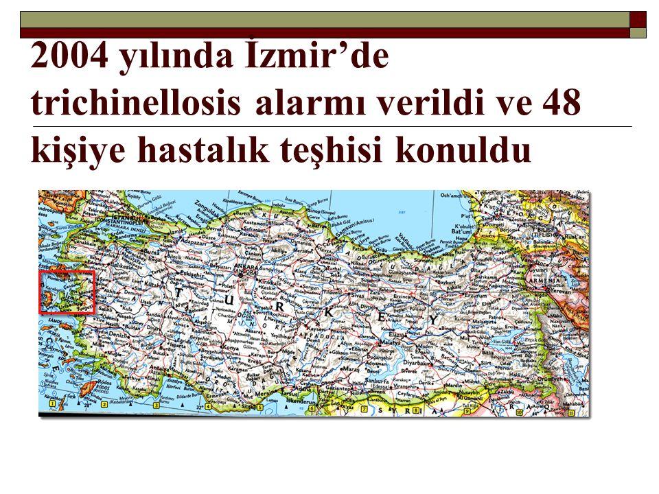 2004 yılında İzmir'de trichinellosis alarmı verildi ve 48 kişiye hastalık teşhisi konuldu
