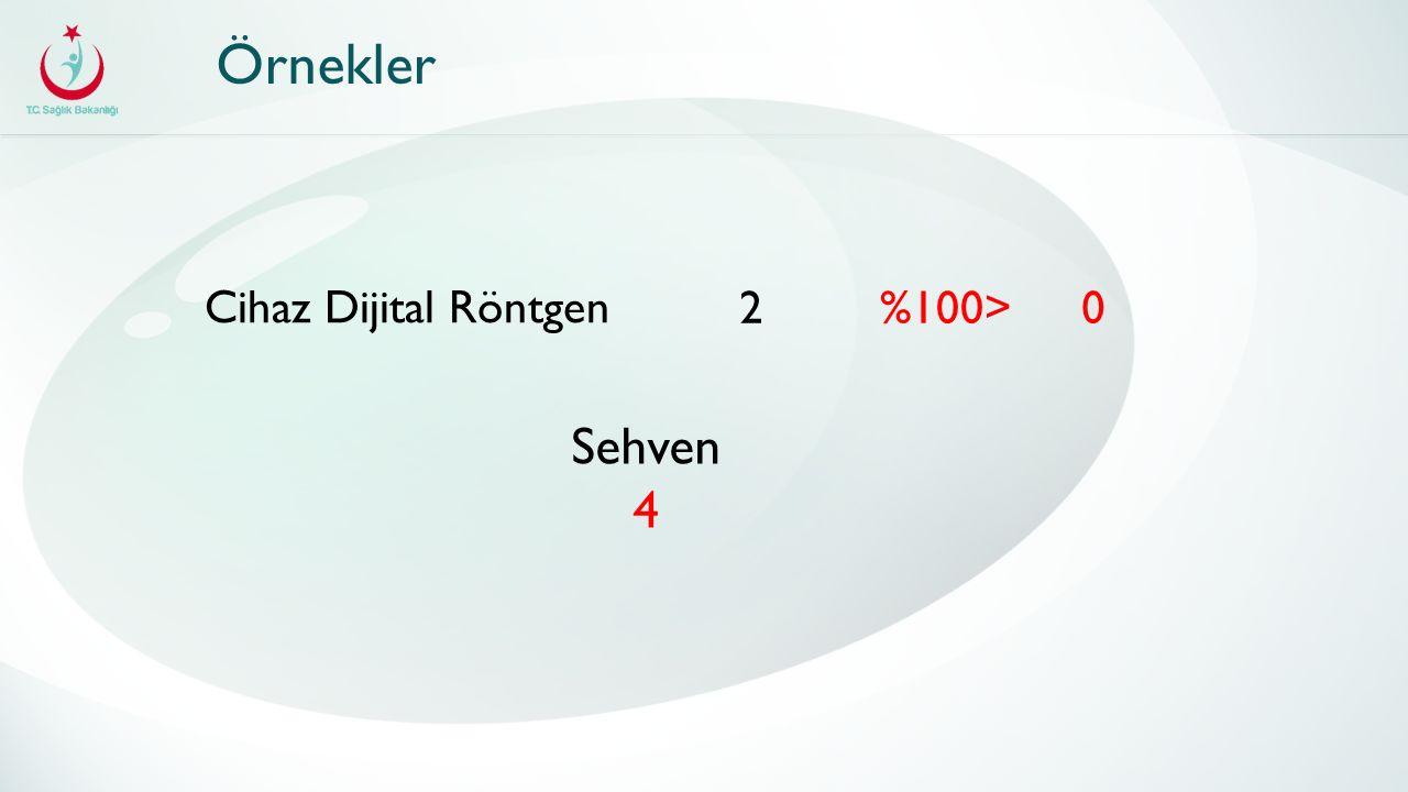 Örnekler Cihaz Dijital Röntgen 20%100> Sehven 4