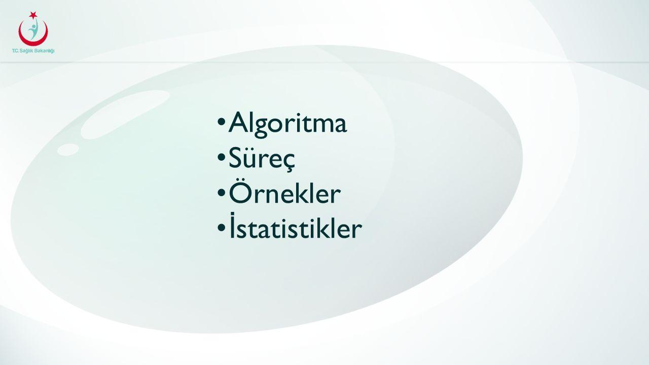 Algoritma Süreç Örnekler İ statistikler