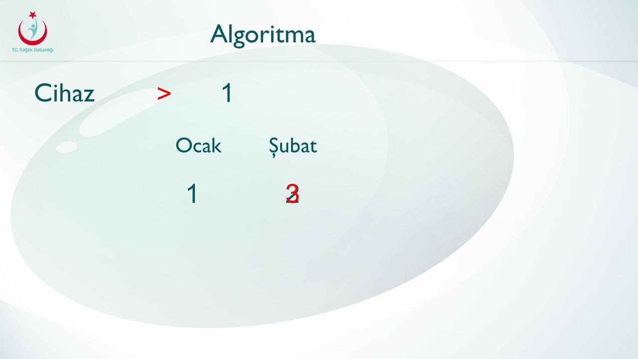 Algoritma Cihaz > 1 OcakŞubat 123