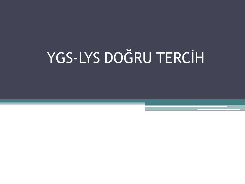 YGS-LYS DOĞRU TERCİH