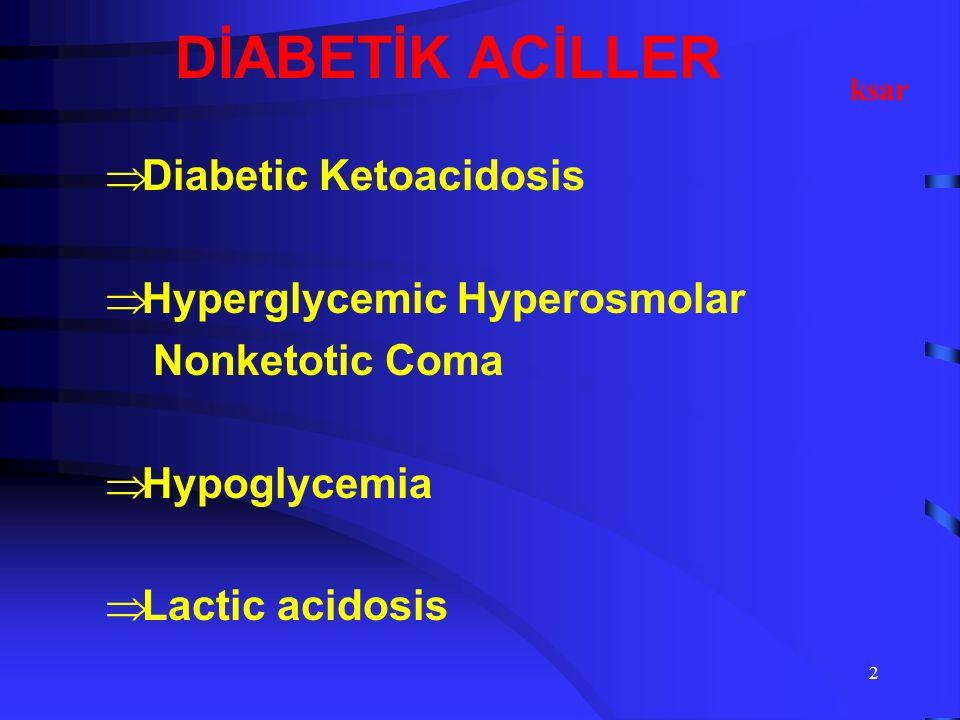 1 DİYABETİK ACİLLER Uzm Dr. Keramettin ŞAR İç Hastalıkları ACIBADEM KADIKÖY HASTANESİ