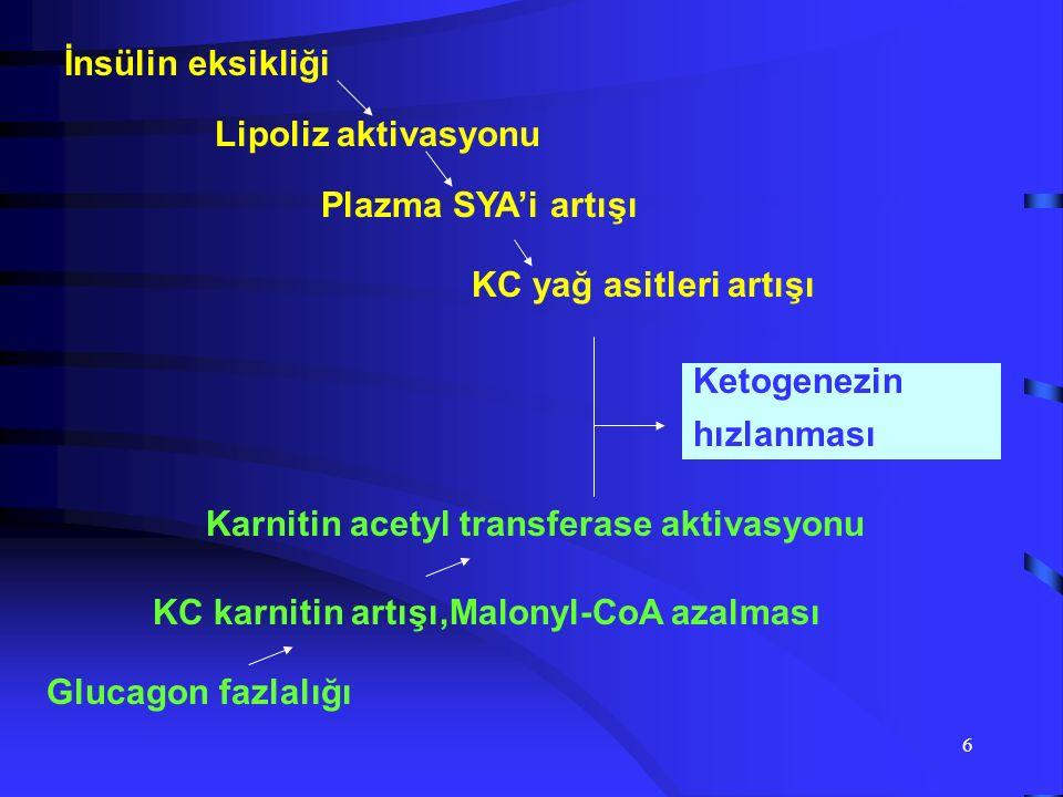 5 Hiperglycemia Acidosis Ketosis DKA D i a b e t i c K e t o a c i d o s i s Bozulmuş Glikoz Toleransı DM NKHC Stres Hiperglisemi Ketotik Hiperglisemi