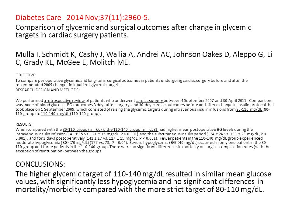Diabetes Care 2014 Nov;37(11):2960-5.