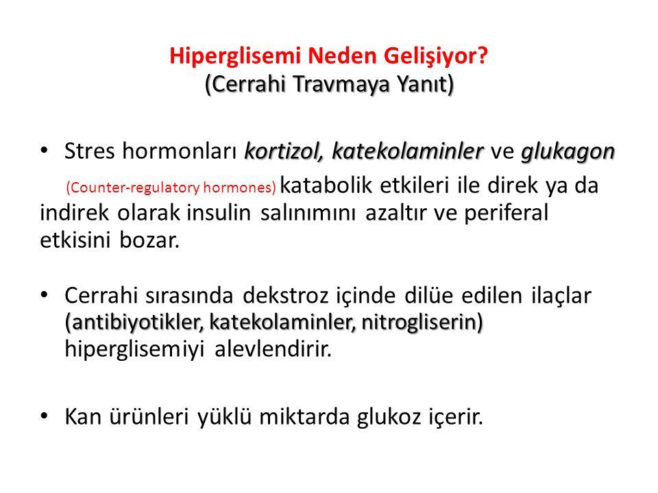 Perioperatif/YBÜ hastalarında Hiperglisemi kötüdür İnsülin iyidir Sıkı glisemik kontrol yapılmalıdır!!