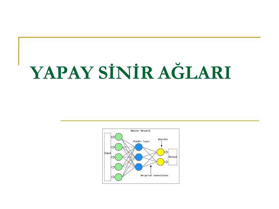 YSA nın Yapısı ve İşlem Elemanı YSA temel olarak, basit yapıda ve yönlü bir graf biçimindedir.
