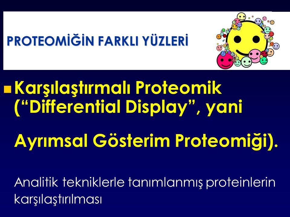 Karşılaştırmalı Proteomik ( Differential Display , yani Ayrımsal Gösterim Proteomiği).