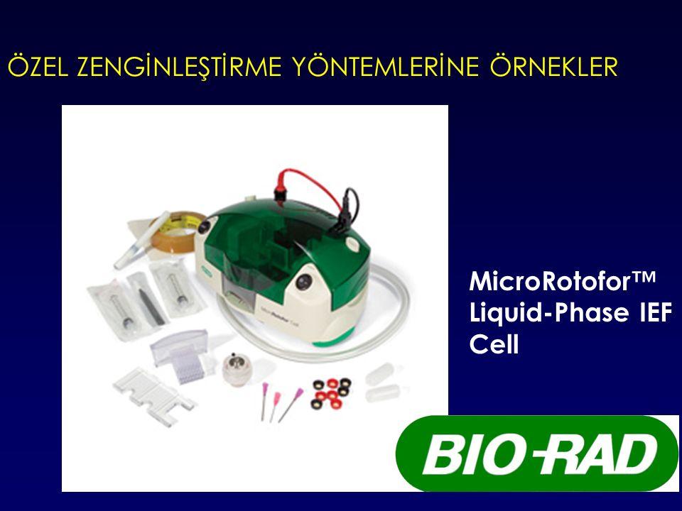 ÖZEL ZENGİNLEŞTİRME YÖNTEMLERİNE ÖRNEKLER MicroRotofor™ Liquid-Phase IEF Cell