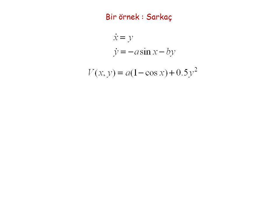 Gradyen Sistemler E(x)'in zamana göre türevi çözümler boyunca Gradyen sistemlere ilişkin özellikler Teorem 6: (Hirsh-Smale-Devaney, sf.